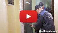 Установка металлической двери МДФ